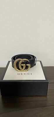 AU400 • Buy Gucci Belt Wide Leather Belt With Double G Buckle