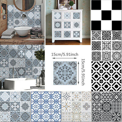 £2.99 • Buy Self-Adhesive Mosaic Tile Sticker Transfers Moroccan Kitchen Wall Decal Bathroom