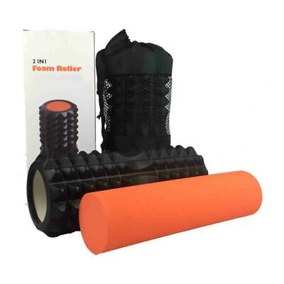 AU44.64 • Buy 2 IN 1 Foam Yoga Roller Physio EVA Gym Back Training For Exercise Relax Massage#