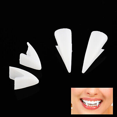 £4.21 • Buy White Vampire Dracula Fangs Caps Teeth Fancy Dress With Putty Adhesive Hallow