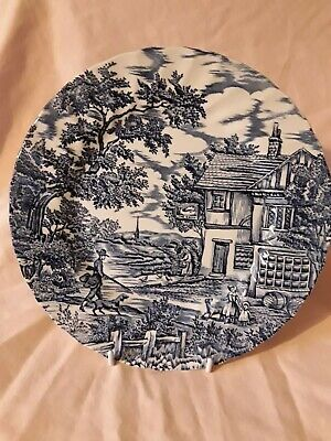 £5 • Buy The Hunter By Myott Blue & White Hunter With Dogs Design 10  Plate