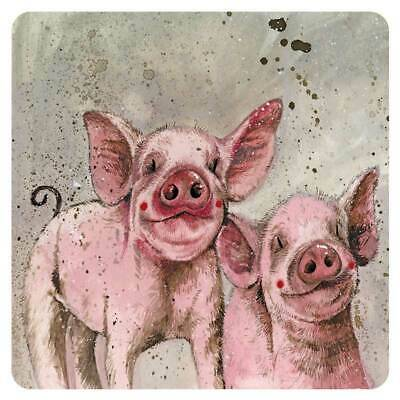 £3.99 • Buy Pinkie And Perky Corked Backed Coaster, Alex Clark, Pigs, Animals, Gifts C160