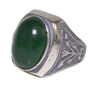 £70.28 • Buy 925 Sterling Silver Mens Uniqe Unique Perfect Ring, Jade Natural Gemstone