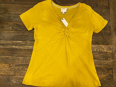 $ CDN9.71 • Buy Anthropologie Chartreuse Knotted Top- Size XL-NWT