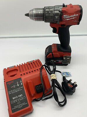 £134.95 • Buy Milwaukee M18 Fuel Percussion Drill PPD2 + 5.0Ah Battery/Charger   FAST SHIPPING