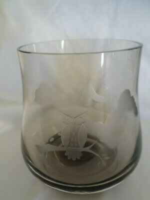 £4.99 • Buy Scottish Caithness Smoked Glass Bowl With Owl  Design
