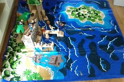 £19.99 • Buy ELC Pirate, Island  Wooden Dock/Fort & Play Mat With 6 Figures