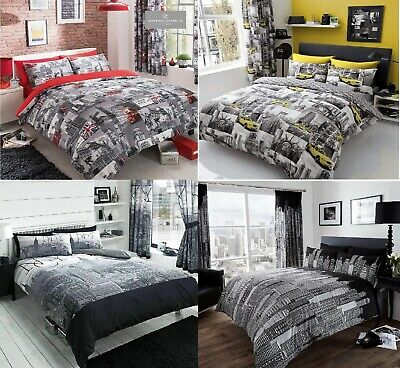 £14.99 • Buy World Cities Theme Duvet Quilt Cover Cover Bedding Set  Or Curtains All Size