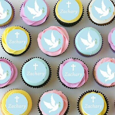 £8.66 • Buy Confirmation Religious Pre-cut Mini Edible Icing Cupcake Or Cookie Toppers