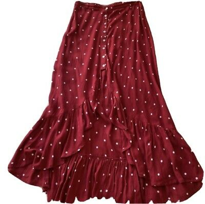 £12 • Buy Urban Outfitters Red Maxi Skirt Small