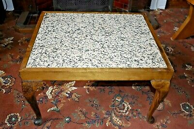 £45 • Buy Marble Top Coffee Table, Cabriole Legs
