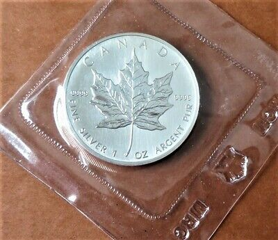 £48.87 • Buy Canadian Silver 'Five Dollar' Coin -1988 'Maple Leaf' - Mint - 1oz Of .999