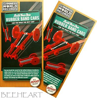 £3.99 • Buy Build Your Own RUBBER BAND CARS ( X 2 ) Guinness World Records > NEW / SEALED