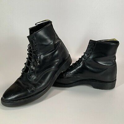 £54.99 • Buy Vintage Hawkins Black Leather 8 Hole Boots Made In England 8 Dr Martens Solovair