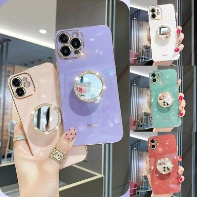 AU12.72 • Buy For IPhone 12 11 Pro Max X XR 7/8 Glitter Bling Holder Stand Diamond Mirror Case