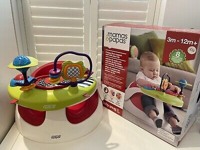 £20 • Buy MAMAS AND PAPAS SNUG SEAT/FLOOR SEAT/BUMB0 WITH PLAY/FOOD Activity TRAY With Box