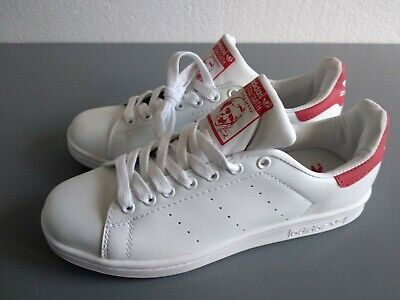 AU36.35 • Buy Adidas Stan Smith White & Red Trainers Size Uk 6 New