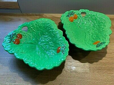 £8 • Buy 2 X Vintage Beswick Cabbage Leaf & Tomato Salad Bowls.  Used.