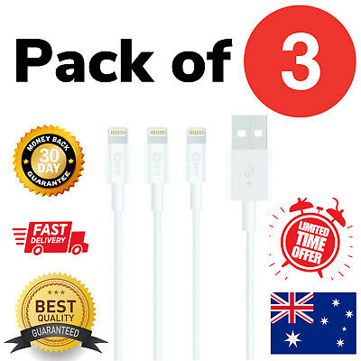 AU6.95 • Buy 3X Genuine Core USB Charger Cable For Apple IPhone 6 7 8 XS XR 11 12 Pro Max