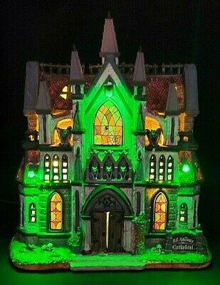 $ CDN109.25 • Buy Lemax Spooky Town ALL HALLOWS CATHEDRAL #65072  Save Your Soul! BRAND NEW