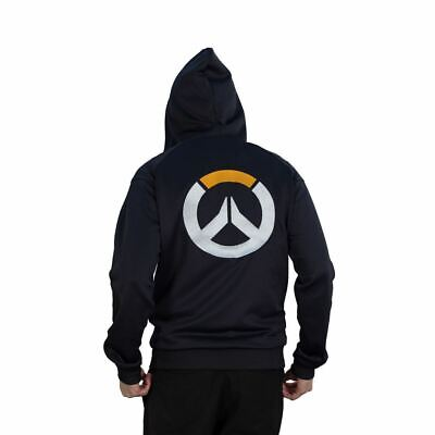 AU86.81 • Buy Overwatch Logo Athletic Tech Hooded Zip Dark Male Small Blue/black Chm007ow-s