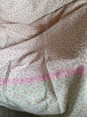 £14.99 • Buy Next Ditsy Shabby Chic Long Floral Pink Green Tab Top Curtains New Fabric Girls