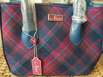 £25 • Buy Ness Bag, New With Tags, Blue And Pink Tartan