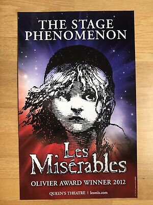 £7.99 • Buy LES MISERABLES. The Stage Phenomenon. Queens Theatre Poster