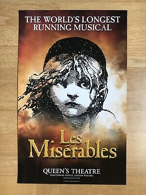 £9.99 • Buy LES MISERABLES. The World's Longest Running Musical. Queens Theatre Poster