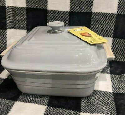 £69.99 • Buy Le Creuset Casserole Dish Grey Square Pan With Lid  NEW 25 X 25cm 3.3L UK Seller