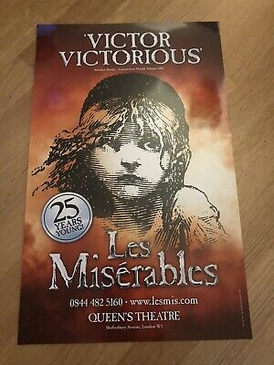 £9.99 • Buy LES MISERABLES. Victor Victorious. Queens Theatre Poster