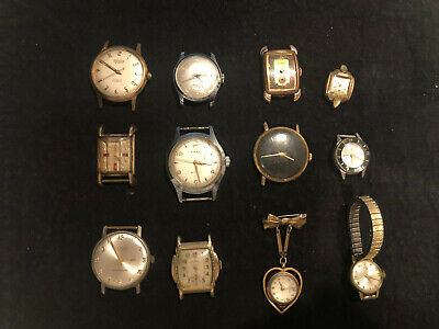 $ CDN29.04 • Buy Lot: 12 Vintage Mechanical Watches: Men's, Women's. Some Fun Ones. ALL AS IS