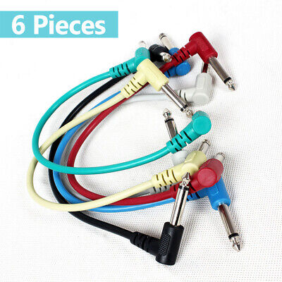 $ CDN13.84 • Buy 6Pcs Guitar Effect Pedal Cables Audio Leads Patch Cord 1/4  Right Angle H9L1