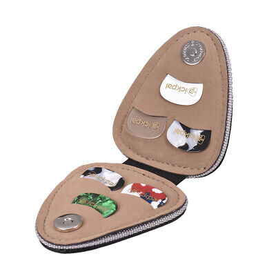 $ CDN12.49 • Buy Guitar Picks Holder Case Bag PU Synthetic Leather With 6pcs Celluloid Picks E3I3
