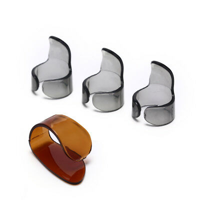 $ CDN1.37 • Buy 4pcs Finger Guitar Pick 1 Thumb 3 Finger Picks Plectrum Guitar AccessorRU
