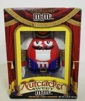 £24.76 • Buy NEW IN BOX M&M Nutcracker Sweet RED Chocolate Candy Dispenser Limited Edition
