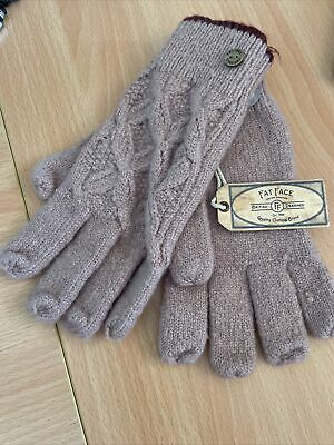 £5.40 • Buy Fat Face Knitted Pattern Cable Gloves One Size.. Pink