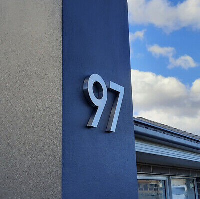 £42.81 • Buy 3D Illuminated Steel House Number Custom Made Laser Cut Stainless Steel