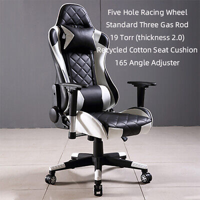 £69.49 • Buy Executive Racing Gaming Chair Computer Recliner White Adjustable Office Chair UK