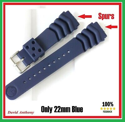 £4.95 • Buy ⭐⭐SALE MARKED CURVED VENTED Z22 FOR 22mm SEIKO DIVERS WATCH GENERIC RUBBER STRAP