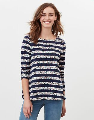 £23.95 • Buy Joules Womens Harbour Light Swing Long Sleeve Jersey Top - Navy Ditsy Stripe