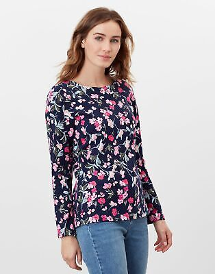 £17.95 • Buy Joules Womens Harbour Print Long Sleeve Jersey Top - Navy Floral