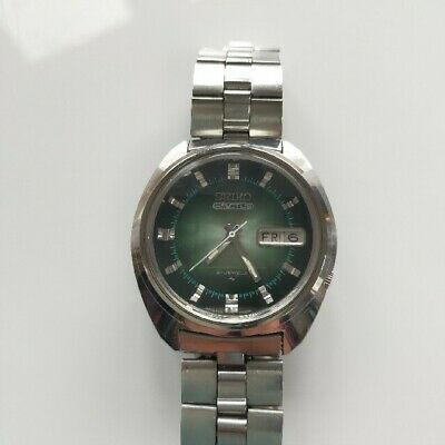 $ CDN205.69 • Buy Vintage Seiko 5 Actus 7019-7210 Automatic 21Jewels Green Dial Mens Watch