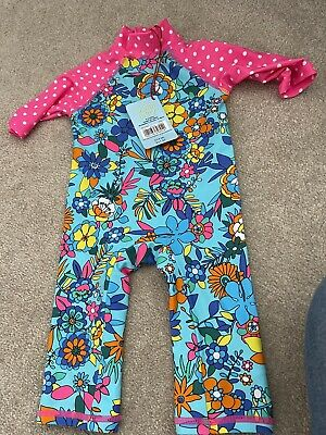 £6.99 • Buy Swimsuit With Sun Protection Bnwt Age 3-6 Months Boots Miniclub Uv Sun Suit