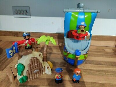 £10 • Buy Elc Happyland Pirate Playset, Ship, Island & 4 Pirate Figures