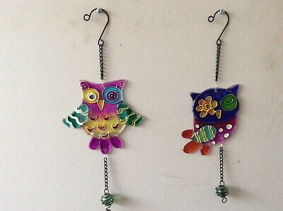 $ CDN11.92 • Buy Glass Owls With Glass Ball X Two Different Sun Catchers (20,36)
