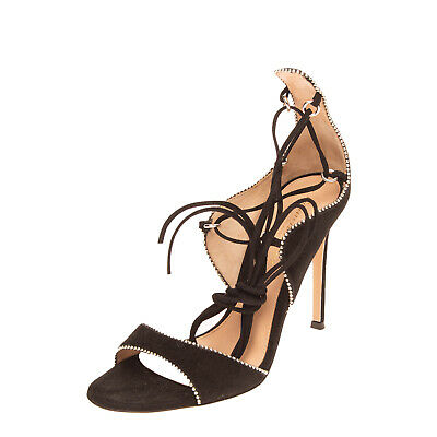 £0.99 • Buy RRP €875 GIANVITO ROSSI Suede Leather Ankle Strap Sandals Size 37 UK 4 US 7 Heel