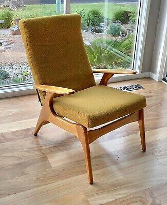 AU299 • Buy Mid Century FLER SC 55 Armchair ARM CHAIR Fred Lowen  AUSTRALIAN Classic