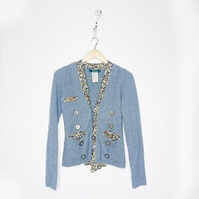 $ CDN39.92 • Buy Anthropologie Cartonnier Womens Blooms Revealed Cardigan Gray Floral Size Small