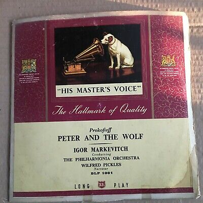 £2.84 • Buy 10  His Master's Voice, Prokofieff   Peter And The Wolf  , Igor Markevitch,